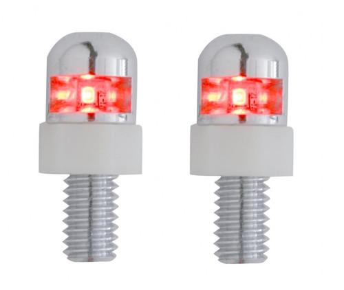 Red LED Light Interior Dashboard Console License Plate Frame Fastener Screws