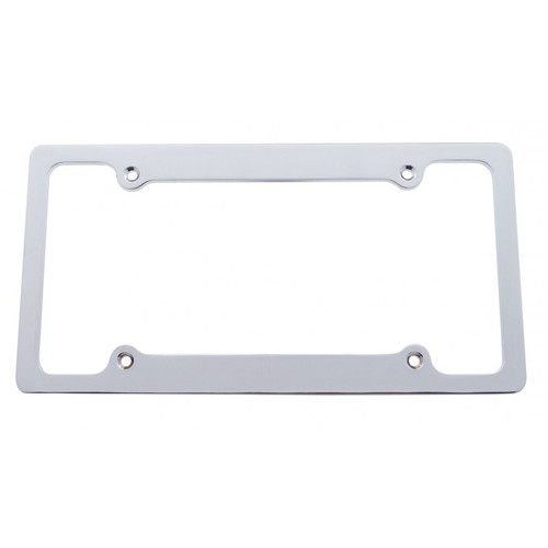 Solid Billet Brushed Aluminum 4-hole License Plate Frame