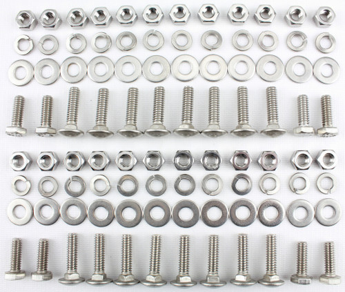 47 48 49 50 51 52 53 54 Chevy Truck Stainless Running Board Bolt Kit LONG BED