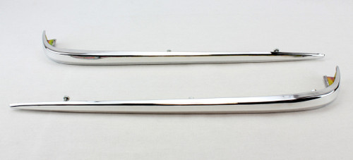 60 1960 Chevy Impala Front Fender Wrap Around Side Trim Chrome Extension Molding
