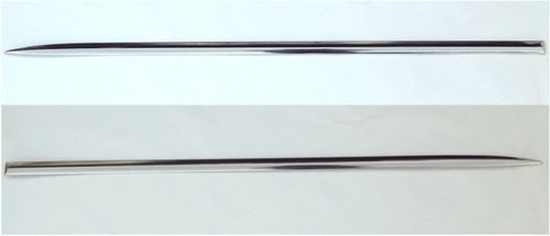 57 1957 CHEVY FRONT FENDER TRIM STAINLESS MOLDINGS PAIR