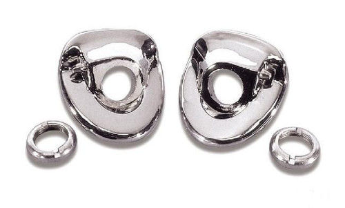 57 1957 CHEVY WINDSHIELD WIPER ESCUTCHEONS CHROME BEZELS NUTS & NOZZLES