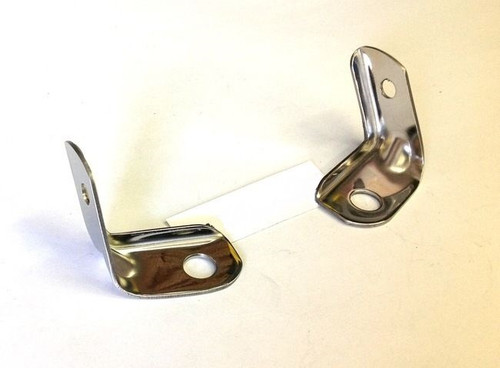 56 1956 CHEVY POLISHED STAINLESS GRILL TO FENDER BRACKETS