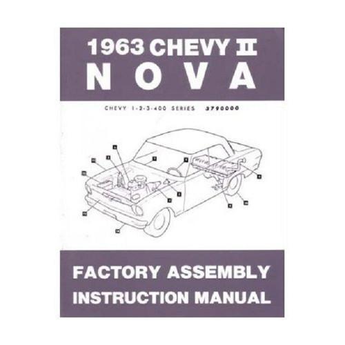 63 1963 NOVA FACTORY ASSEMBLY INSTRUCTION MANUAL BOOK