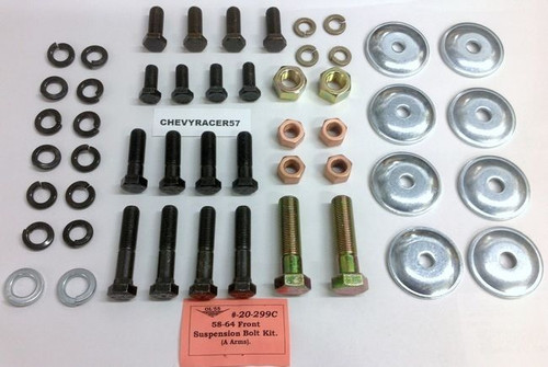 58 59 60 61 62 63 64 CHEVY IMPALA SUSPENSION CONTROL ARM BOLT KIT