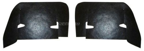61 1961 CHEVY INNER FENDER CONTROL ARM DUST SHIELDS