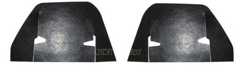 62 63 64 CHEVY INNER FENDER CONTROL ARM DUST SHIELDS