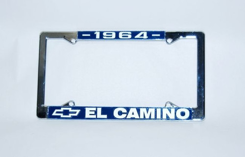 64 1964 CHEVY EL CAMINO CHROME LICENSE PLATE FRAME