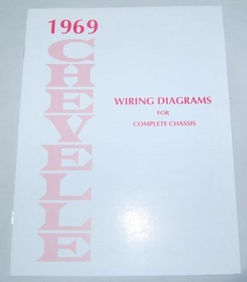 69 1969 CHEVELLE EL CAMINO ELECTRICAL WIRING DIAGRAM MANUAL