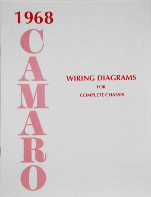 68 1968 CAMARO ELECTRICAL WIRING DIAGRAM MANUAL