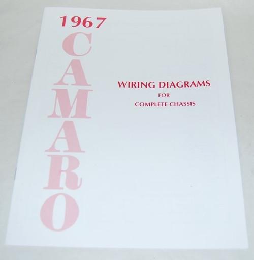 67 CHEVY CAMARO ELECTRICAL WIRING DIAGRAM MANUAL 1967