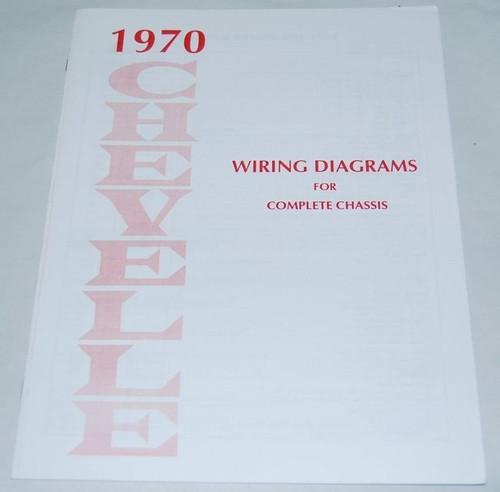 70 CHEVELLE EL CAMINO ELECTRICAL WIRING DIAGRAM MANUAL 1970