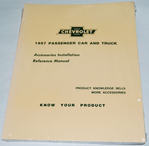 57 CHEVY CHEVROLET ACCESSORY INSTALLATION MANUAL BOOK 1957