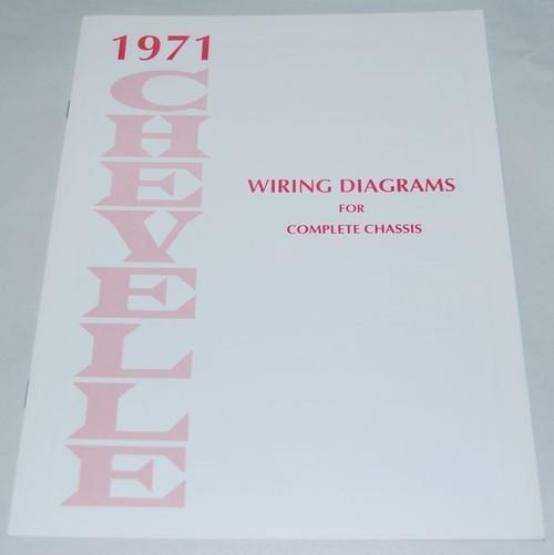 71 1971 CHEVELLE EL CAMINO ELECTRICAL WIRING DIAGRAM MANUAL