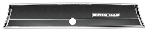 66 1966 CHEVELLE SS GLOVE BOX TRIM & EMBLEM