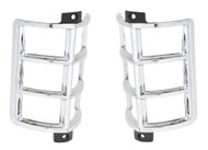 67 1967 CHEVY IMPALA FENDER CORNER PARK LIGHT CHROME BEZELS
