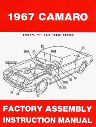 67 CHEVY CAMARO FACTORY ASSEMBLY MANUAL BOOK 1967