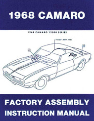 68 CHEVY CAMARO FACTORY ASSEMBLY MANUAL GUIDE BOOK 1968