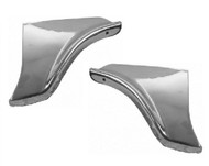 58 1958 CHEVY IMPALA FENDER SKIRT STAINLESS TRIM SCUFF PADS