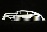 46 47 48 Chevy Fleetline Polished Stainless Steel Metal Trim Beard Hair Mustache Comb