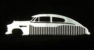 49 50 51 52 Chevy Fleetline Bel Air Polished Stainless Steel Metal Trim Beard Hair Mustache Comb