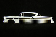 58 Chevy Bel Air Biscayne Impala Polished Stainless Steel Metal Trim Beard Hair Mustache Comb