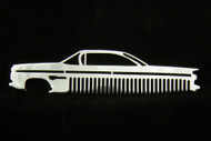 59 Chevy Bel Air Biscayne Impala Polished Stainless Steel Metal Trim Beard Hair Mustache Comb