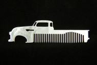 47-54 Chevy Pick Up Polished Stainless Steel Metal Trim Beard Hair Mustache Comb