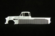 55-59 Chevy Pick Up Polished Stainless Steel Metal Trim Beard Hair Mustache Comb