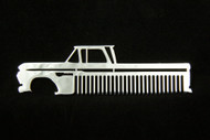 60-66 Chevy Truck Polished Stainless Steel Metal Trim Beard Hair Mustache Comb