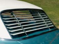 62 63 64 Chevy Impala Rear Back Window Glass Sanco Style Blinds Shades Set New
