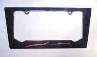 15-16 Corvette C7 Convertible Daytona Sunrise Orange Metallic License Plate Frame In Carbon Flash Black
