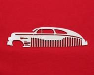 46 47 48 Chevy Fleetline Brushed Stainless Steel Metal Trim Beard Hair Mustache Comb