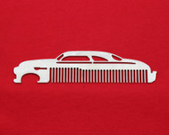 49-51 Mercury Lead Sled Monterey Brushed Stainless Steel Metal Beard Hair Mustache Comb