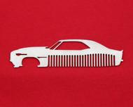 69 Chevy Camaro Brushed Stainless Steel Metal Trim Beard Hair Mustache Comb