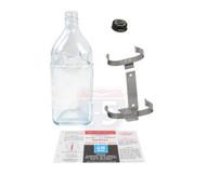61 62 63 64 Chevy Impala Windshield Wiper Washer Glass Bottle Jar, Bracket, Cap & Label
