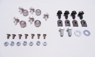 55 Chevy Front Grill & Tie Bar Bolt Kit with Stainless Threaded Fake Rivets