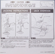 61 Chevy Impala Convertible Jacking Instructions 1961