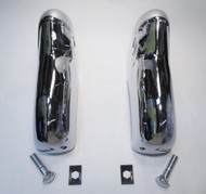 55 1955 Chevy Hardtop & Sedan & Convertible Chrome Rear Bumper Guards Pair