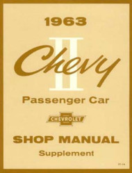 63 1963 CHEVY II NOVA SUPPLEMENT SHOP MANUAL