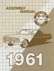 61 CHEVY IMPALA FACTORY ASSEMBLY INSTRUCTION MANUAL