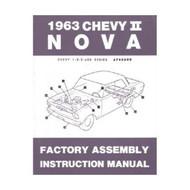 63 1963 NOVA FACTORY ASSEMBLY INSTRUCTION MANUAL BOOK