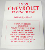 59 CHEVY IMPALA ELECTRICAL WIRING DIAGRAM MANUAL