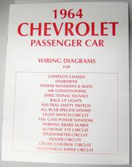 64 1964 CHEVY IMPALA ELECTRICAL WIRING DIAGRAM MANUAL