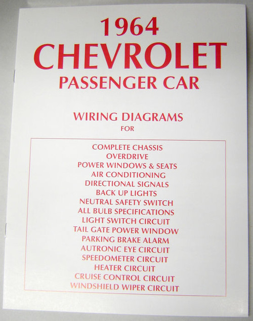 64 1964 chevy impala electrical wiring diagram manual mikes 64 1964 chevy impala electrical wiring diagram manual image 1