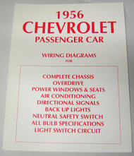 56 1956 CHEVY ELECTRICAL WIRING DIAGRAM MANUAL