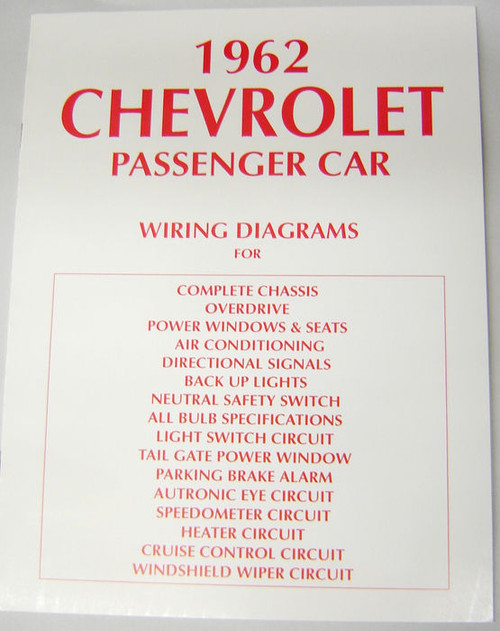 62 chevy impala electrical wiring diagram manual 1962 mikes impala electrical wiring diagram manual 1962 image 1