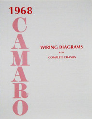 68 1968 CAMARO ELECTRICAL WIRING DIAGRAM MANUAL