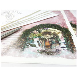 The Druid of Hampshire Lined Paper Stationery Set
