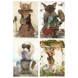 Whimscial Woodland Post Card Collection